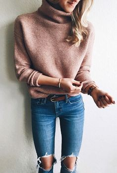 livvyland blog | olivia watson | roundup madewell blush funnel turtleneck sweater + ankle strap kitten heels
