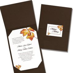 Falling Leaves Wedding Invitations by TheAmericanWedding.com