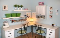 Salle de bricolage Baby Room, Corner Desk, Relax, Furniture, Design, Home Decor, Art, Game Room, Bedroom