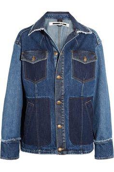 McQ Alexander McQueen - Patchwork Frayed Denim Jacket - Indigo - IT44