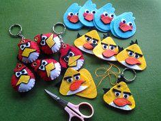 Angry Birds keychains (grommet, felt)