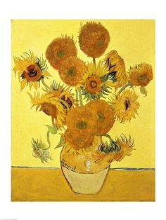 we had a huge copy of this hanging in the front room in the 70's- it matched the orange shag rug! ;-) Van Gogh - Sunflowers