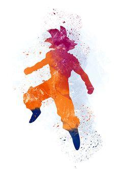 Son-Goku Dragon Ball Alternative zu drucken von WatercolorDsgn