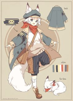 [CLOSED] ADOPTABLE | Courier Fox by ocono.deviantart.com on @DeviantArt