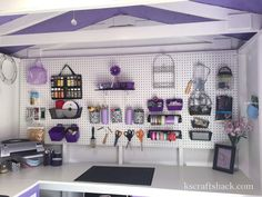 Hometalk | Repurposed Tool Shed To Craft Room