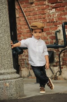 I love this little boys style... adorable