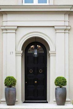 Beautiful black front door