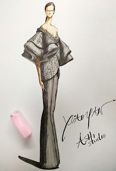 fashion illustration by xiaoyan liu