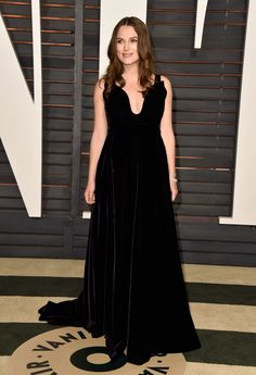 Keira Knightley in Valentino Couture at the Vanity Fair Oscar Party. Photo: Pascal Le Segretain/Getty Images