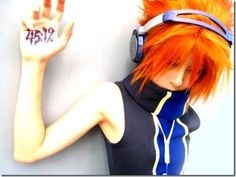 "From one of the popular games in NDS, ""The World Ends With You"" comes Sakuraba Neku. He is a quiet boy who prefers to listen to his music . Kingdom Hearts Cosplay, Kingdom Hearts Art, Amazing Cosplay, Best Cosplay, Anime Cosplay, Cosplay Outfits, Cosplay Costumes, Dress Up Boxes, Cosplay Characters"