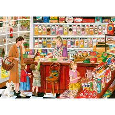 Gibsons Betty's Sweet Shop Jigsaw Puzzle  (1000 Pieces)