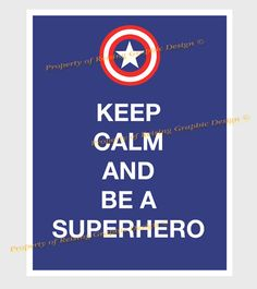 Keep Calm and be a Superhero Printable Pdf by reisinggraphicdesign, $3.50