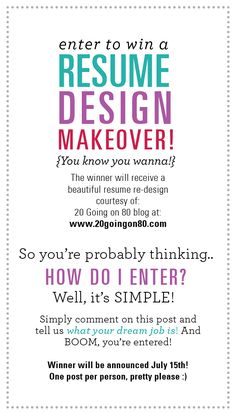 Melissa, A Graphic Design Student And Blogger At @20 Going, Is Offering One  Lucky @thelovelyside Reader A Beautiful Resume Makeover!!