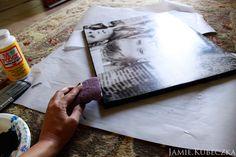 DIY PHOTO CANVAS  Canvas Photograph {same size as canvas} MATTE Mod Podge Acrylic Paint
