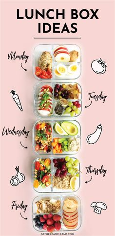 Lunch Meal Prep, Healthy Meal Prep, Healthy Eating, Healthy Lunch To Go, Healthy Lunch Boxes, Food For Lunch, Packing Healthy Lunches, Healthy Lunch Meals, Healthy Drinks