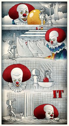 kingsquotes: Pennywise by Eumenidi The Craziest Horror Video! Horror Icons, Horror Art, Youtubers, Scary Clown Mask, Movie Decor, Pennywise The Dancing Clown, Funny Horror, Pokemon, Evil Clowns