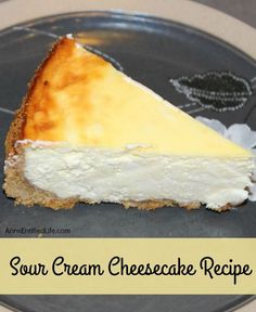 This Sour Cream Cheesecake Recipe is creamy and delicious. Easy to make, your guests and family will love every tangy-sweet bite!