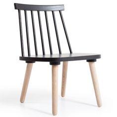 Wood loungetuoli H19, musta/tammi ryhmässä Huonekalut / Nojatuolit / Nojatuolit @ ROOM21.fi (124334)