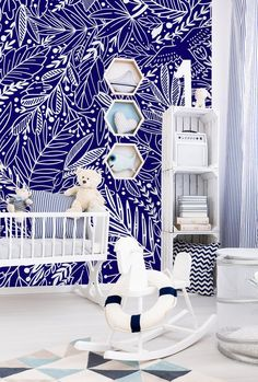 Removable Wallpaper Peel and Stick Wallpaper Self Adhesive Wallpaper Wild Flowers Blue Mural Wallpapers & Wall Treatments Bathroom Mural, Bathroom Kids, Bathrooms, Self Adhesive Wallpaper, Peel And Stick Wallpaper, Minimalist Nursery, Kitchen Wallpaper, Print Wallpaper, Wall Treatments