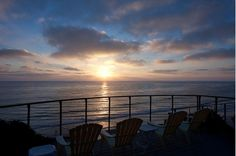 Sunset in Encinitas #oceanfront #vacationrental #StoneSteps #beach 858-465-9111