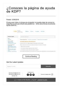 ¿Conoces la página de ayuda de KDP?