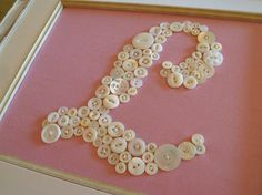 Baby Nursery Button Monogram  Custom 8x10 by letterperfectdesigns, $60.00