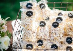 Or give out mini popcorn bags for guests to snack on during the ride home. 19 DIY Wedding Shower Favors That Are Stupid Easy Wedding Favors And Gifts, Popcorn Wedding Favors, Bridal Shower Favors Diy, Popcorn Favors, Edible Wedding Favors, Popcorn Bags, Party Favors, Before Wedding, Cake Toppers