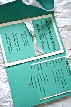 Tiffany Blue wedding invitations (might do a Tiffany Wedding)