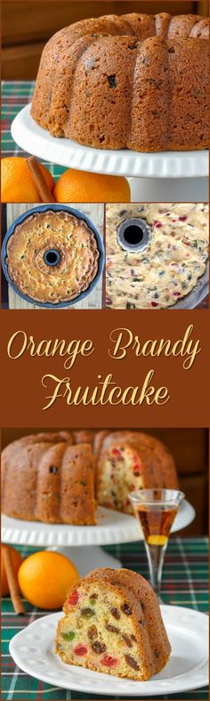 Orange Brandy Fruitcake - a rich cream cheese batter serves as the base for this simple but delicious citrus infused fruitcake that will be the absolute star of your Christmas baking. Holiday Cakes, Christmas Desserts, Christmas Baking, Christmas Cakes, Christmas Ideas, Fudge, Cake Recipes, Dessert Recipes, Rock Recipes