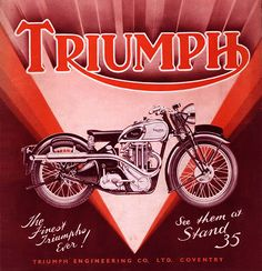 Triumph Motor Show Poster
