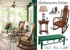 Get the Look: Lake House Porch #lakehouse #lakehousedecor #lakehousefurniture #countryporch #countrydecor thedistinctivecottage.com