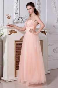 Fabulous Sweetheart Tulle Floor-length Prom Pageant Dresses with Beading