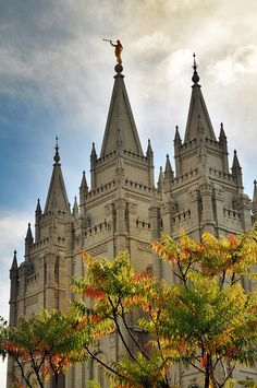 SLC Temple in early Fall