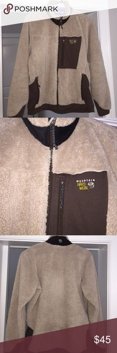 Women's mountain hardware jacket size large Tan and Brown with black around the neck. Mountain Hardwear Jackets & Coats