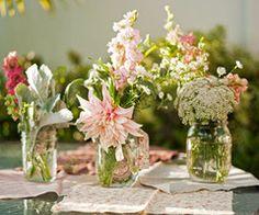 Casual floral arrangements have a simplistic beauty...