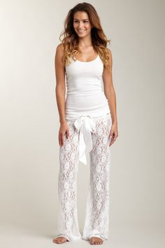 30 Cute Outfits to Wear with Pajamas/PJs to Look Gorgeous Cute Fashion, Look Fashion, Fashion Beauty, Womens Fashion, Pyjama Pilou, Looks Style, Style Me, Lingerie Fine, Lace Pants