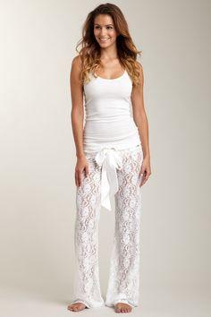 Lace pajama pants. @The Juggling Teacher Susie LaBelle christmas jammies haha!!