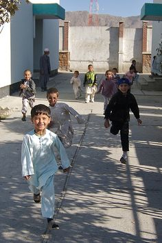 Children at a orphanage in Kabul, Afghanistan.