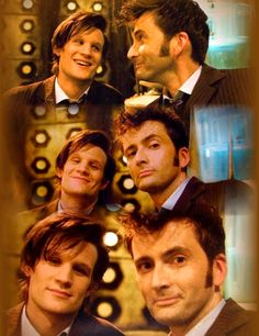 Matt Smith and David Tennant as the 11th and 10th Doctors... together.