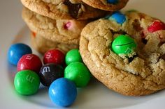 Chocolate Chunk Pretzel M and M Cookies. Craving Pretzel M and M's and knowing I can make delicious cookies with them makes me want them even more...
