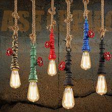 DIY loft retro sanayi vintage su Borusu renkli Bağbozumu kolye lamba e27 için…