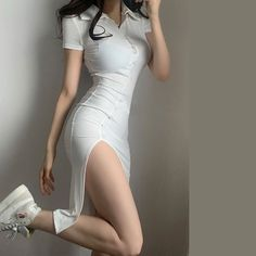 Kpop Fashion Outfits, Edgy Outfits, Korean Outfits, Retro Outfits, Cute Casual Outfits, Girl Outfits, Korean Girl Fashion, Korean Fashion Trends, White Fashion