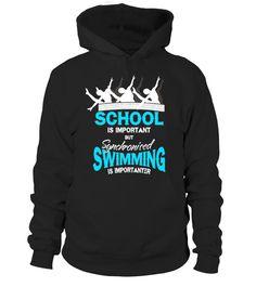 Education is Important But Swimming is Importanter Men/'s Hoodie Sweatshirt