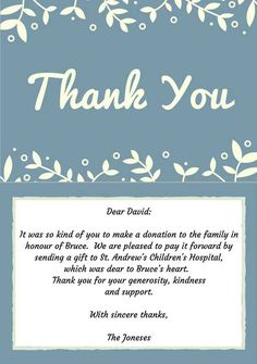 Thank You For Your Donation Quotes Gorgeous Donation Thank You Letter  Pinterest  Fundraising Fundraising