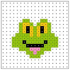 Frog hama perler pattern