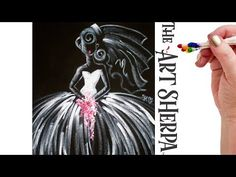 Divinely Easy how to paint a Bride on Canvas in Acrylic real time tutorial - YouTube