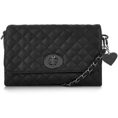 **The Yaz Quilted Bag by Marc B (2,510 THB) ❤ liked on Polyvore featuring bags, handbags, black, marc b, black bag, black purse, black handbags and black quilted purse