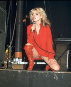 Debbie Harry in red…