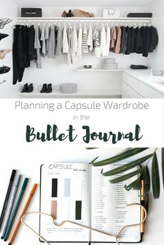 Capsule wardrobe planning with a bullet journal