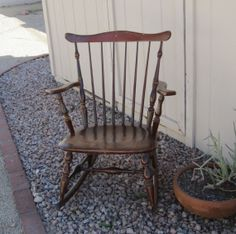 Tell City Chairs Combed Back Maple Rocking Chair by Alveta on Etsy, $165.00